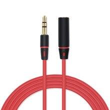 Noonmary Хорошее качество Мода 3,5 мм aux аудио кабель для компьютеров автомобили телефоны и колонки в красный цвет
