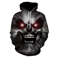 Fashion Red Eyes Skull Hooded Shirts Men Women Printed 3d Hoodies Casual Graphic Hoodie Funny Sweatshirt