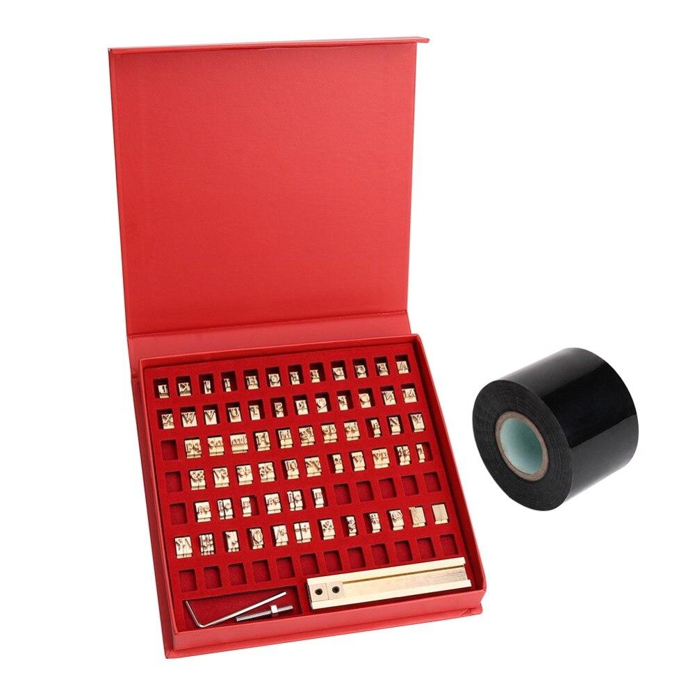 Feuille chaude estampage Machine t-slot cuivre lettres Die Cut Deboss moule personnalisé police bricolage caractère pour PVC cuir gaufrage
