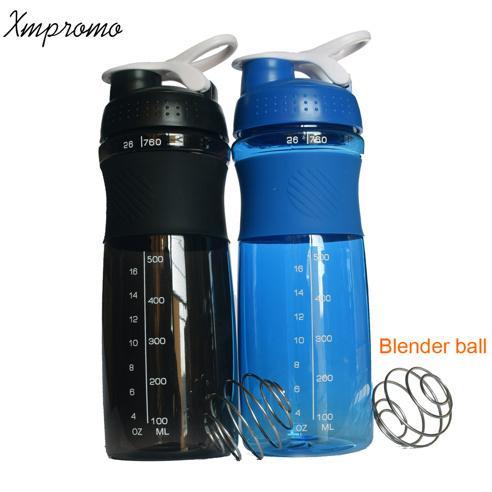760ML Sports Protein Shaker Blender Milk Mixer Water Bottle BPA Free Fitness Gym My Water Bottle Bicycle Outdoor Coffee Bottle