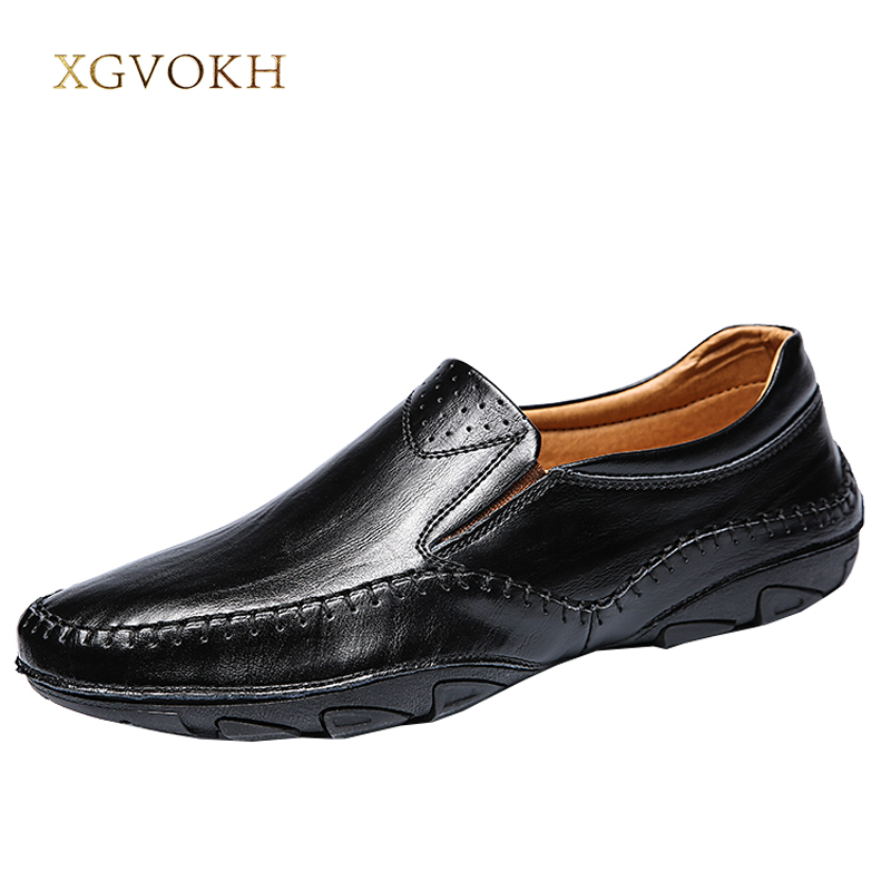 Mens Slip On Driving Shoes Casual Boat Deck Moccasin Loafers Leather Classic Men's xgvokh brand Leisure Casual black flats desai brand italian style full grain leather crocodile design men loafers comfortable slip on moccasin driving shoes size 38 43
