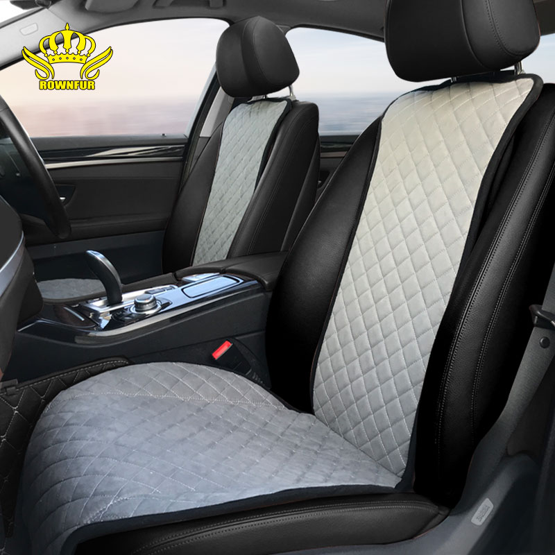 Artificial suede car seat sushion Fit for most cars four seasons High grade Automotive interior gray