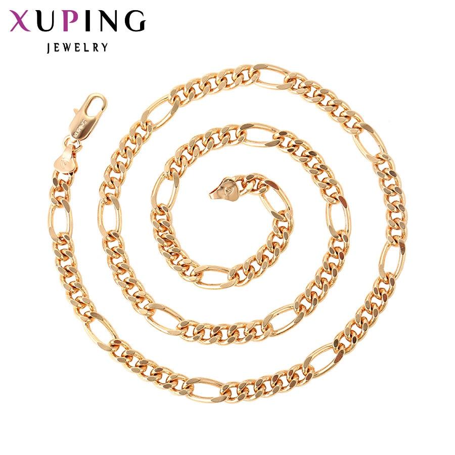 Xuping módní náhrdelník nový design velký dlouhý náhrdelník zlatá barva á á náhrdelník ženy muži řetězec šperky top prodej S10-42622