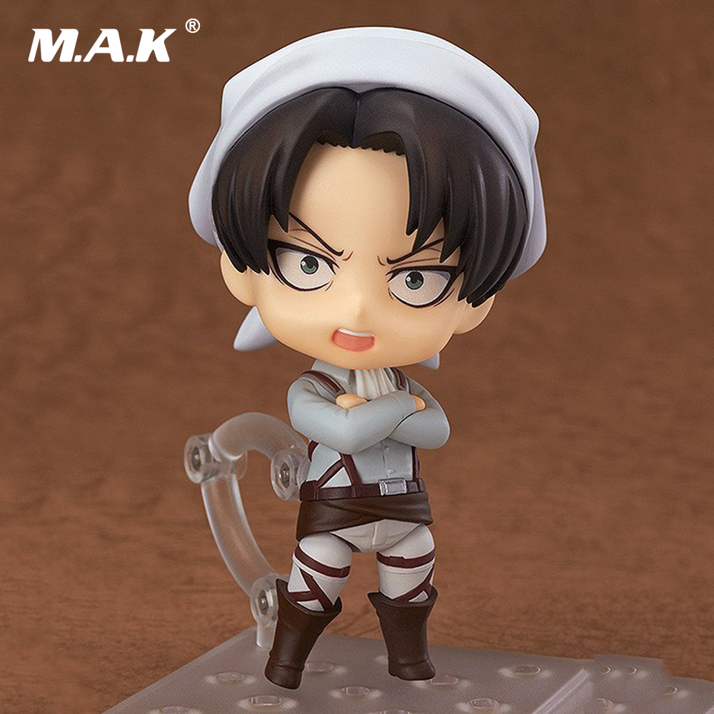 10CM PVC Nendoroid Attack on Titan Levi Rivaille Rival Ackerman Cleaner Anime Action Figures Toys Collections Gifts Brinquedo anime attack on titan chibi ackerman