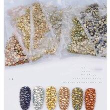1440pcs Nail Rhinestones Glass For Nails Art SS6-SS20 6 Sizes Non Hotfix Crystal Diamond AB Flatback For Nails Decorations ZD042 ss20 smoked topaz color 1440pcs non hotfix rhinestones 4 6mm 20ss crystal flatback nail art rhinestones