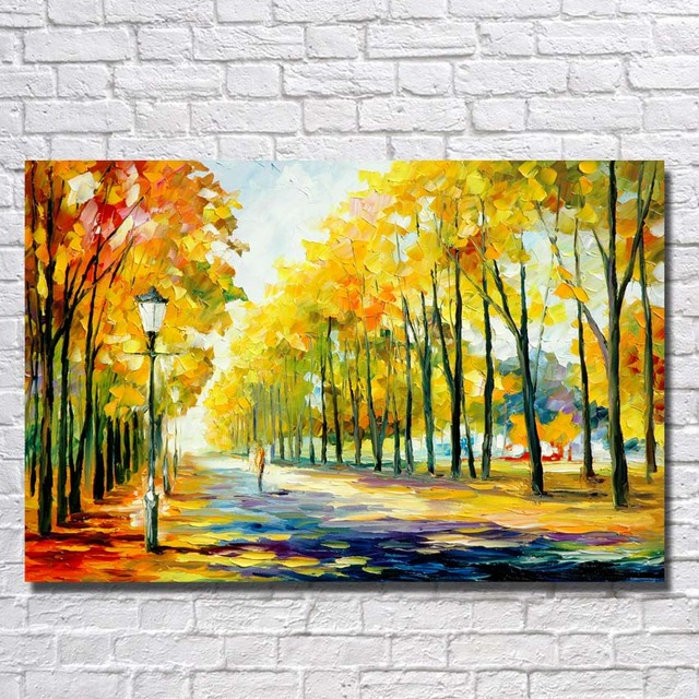 Spring Landscape Oil Paintings Abstract Canvas Art Home Decoration ...