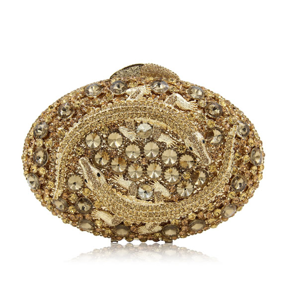 XIYUAN gold Crystal Rhinestone Flower Evening Clutch Purses Wedding Bridal Clutches Women Party Cocktail Minaudiere Handbags xiyuan brand gold diamond rhinestone purses ladies minaudiere evening clutch bags red crystal party clutches wedding bridal bag