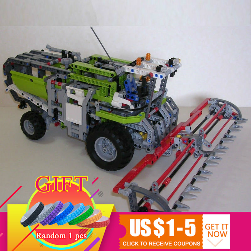 20041 1107Pcs Technical Series The Combine Harvester Set Compatible with 8274 Educational Building Blocks Model Toys Gift arti m фигурка рыцарь 11х24х30 см