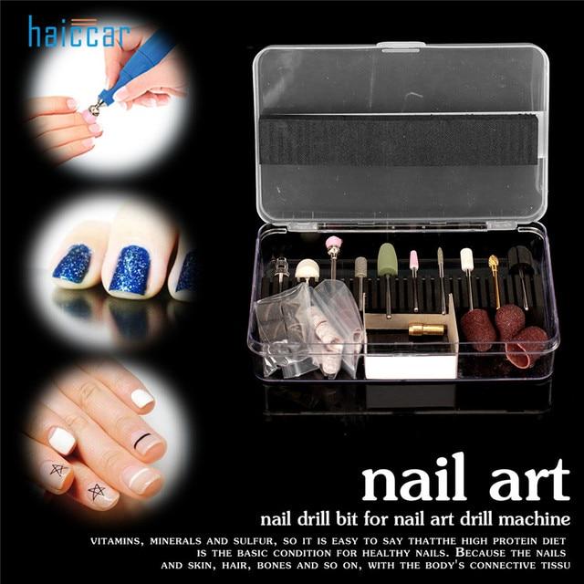 New Brand HAICAR 1Box Pro Nail Art Electric File Drill Bits High ...