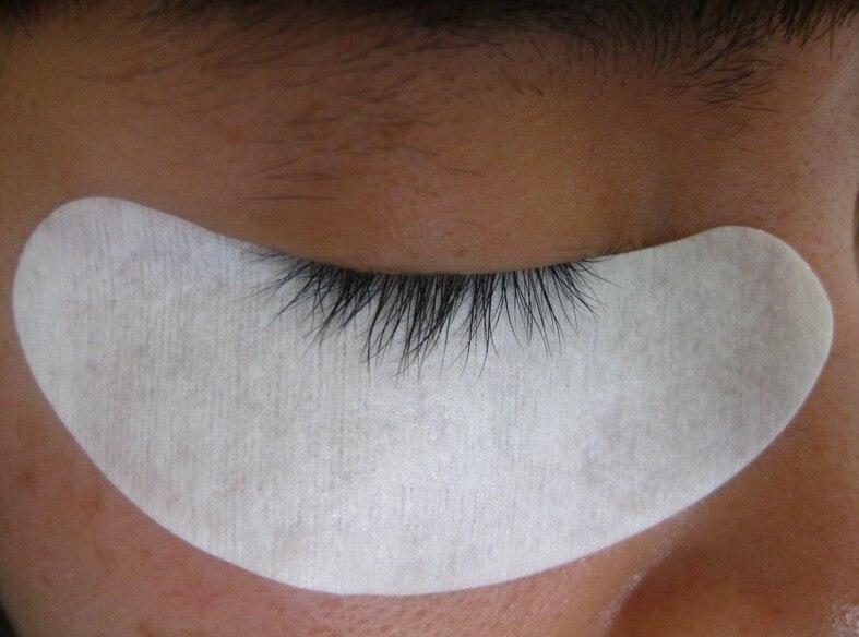5 пар безворсовой шелк глазу ресниц Инструмент питания Спецодежда медицинская Клейкие ленты ресниц Клейкие ленты гель для глаз колодки