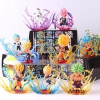 Dragon Ball Action Figure BURST Broli Frieza Super Saiyan Son Goku Gohan Vegeta Broly Dragon Ball Collection Model Toy 9pcs/set