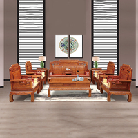Деревянная мебель Китай красное дерево Ежик палисандр гостиная диван набор стул журнальный столик 11 шт./компл.