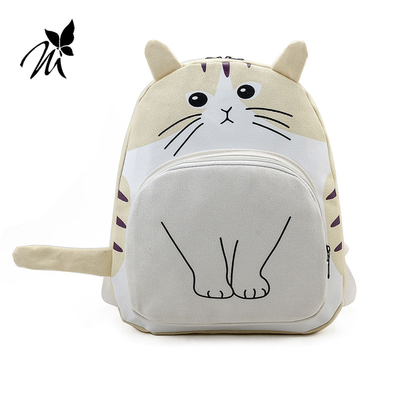 The new 2017 cute cartoon, Japan and South Korea version of canvas elementary school of backpack backpack bag of junior secondar korean version canvas shoulder bag backpack student bag ladies cartoon cute new child birthday gift
