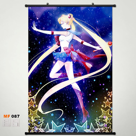 Anime Manga Pretty Soldier Sailor Moon Wall Scroll Painting 60x90cm Wall Picture Wallpaper 004