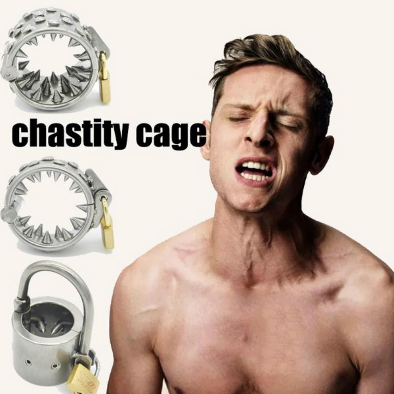 Stainless Steel Male Chastity Belt Cock Ring Pendant Scrotum Testicle With Teeth Ball Stretcher Gay Penis Ring Sex Toys For Men