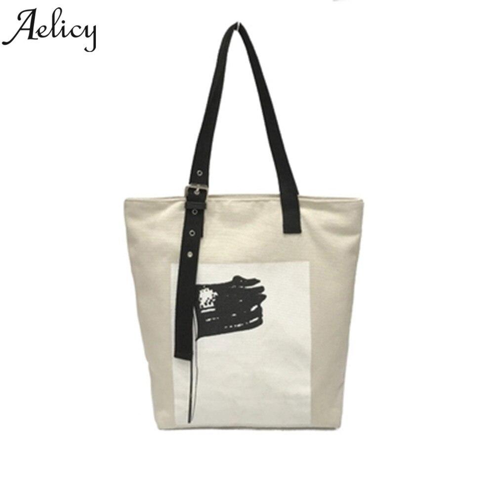Canvas Handbag Casual Tote Bag Large Lady Handbags Bag Female Solid Shoulder Bag Canvas Sac A Main Bolsos Mujer