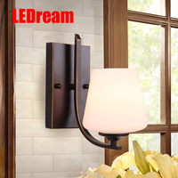 LEDream led American country berth lamp wall lamp study bedroom balcony corridor lamp rural single head, wrought iron lamp