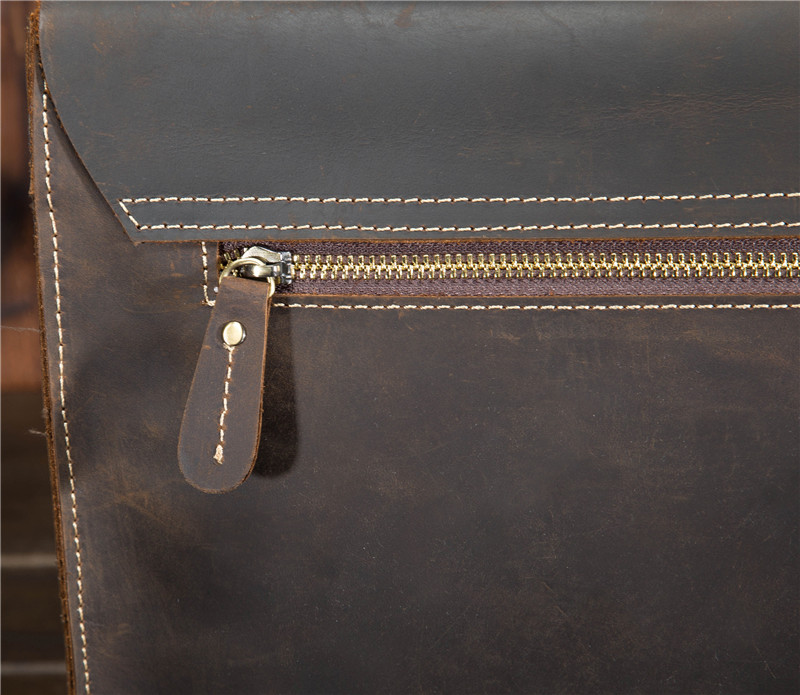 HTB1GyhDbl 85uJjSZPfq6Ap0FXaC Top Grade Male Men's Vintage Real Crazy Horse Leather Briefcase Messenger Shoulder Portfolio Laptop Bag Case Office Handbag 1061