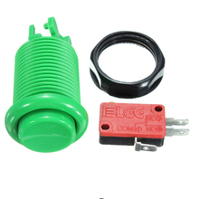 цена на Wholesale price!!! American style round push button with micro switch for game machine