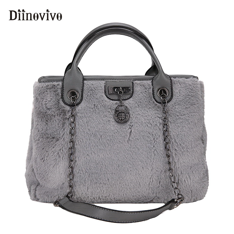 DIINOVIVO Fashionable Female Handbags Women's Bags Winter Big Tote Bag Pu Leather Bags for Women 2018 Shoulder Bag WHDV0756 fashionable women s tote bag with cover and pu leather design