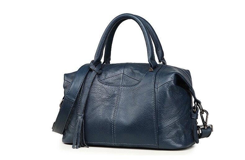 MJ Women Genuine Leather Handbag Female Real Cow Leather Tote Bag Ladies Large Capacity Shoulder Bag Crossbody Bags for Women (15)