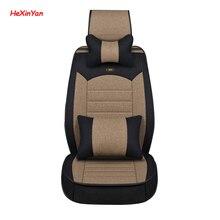 HeXinYan Universal Flax Car Seat Covers for Nissan all model March Teana qashqai x-trail tiida Note Murano almera primera navara