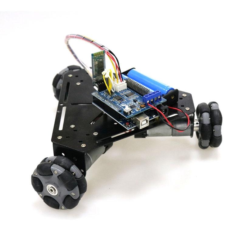 Controle Remoto sem fio 3wd Omni Direcional Rodas Chassis Do Carro Inteligente com WiFi Bluetooth Alça para Projeto Da Graduação do Robô DIY