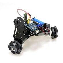 Беспроводной пульт дистанционного управления 3wd Многонаправленное колесо умный автомобиль шасси с Wi-Fi ручкой Bluetooth для робота Выпускной дизайн DIY