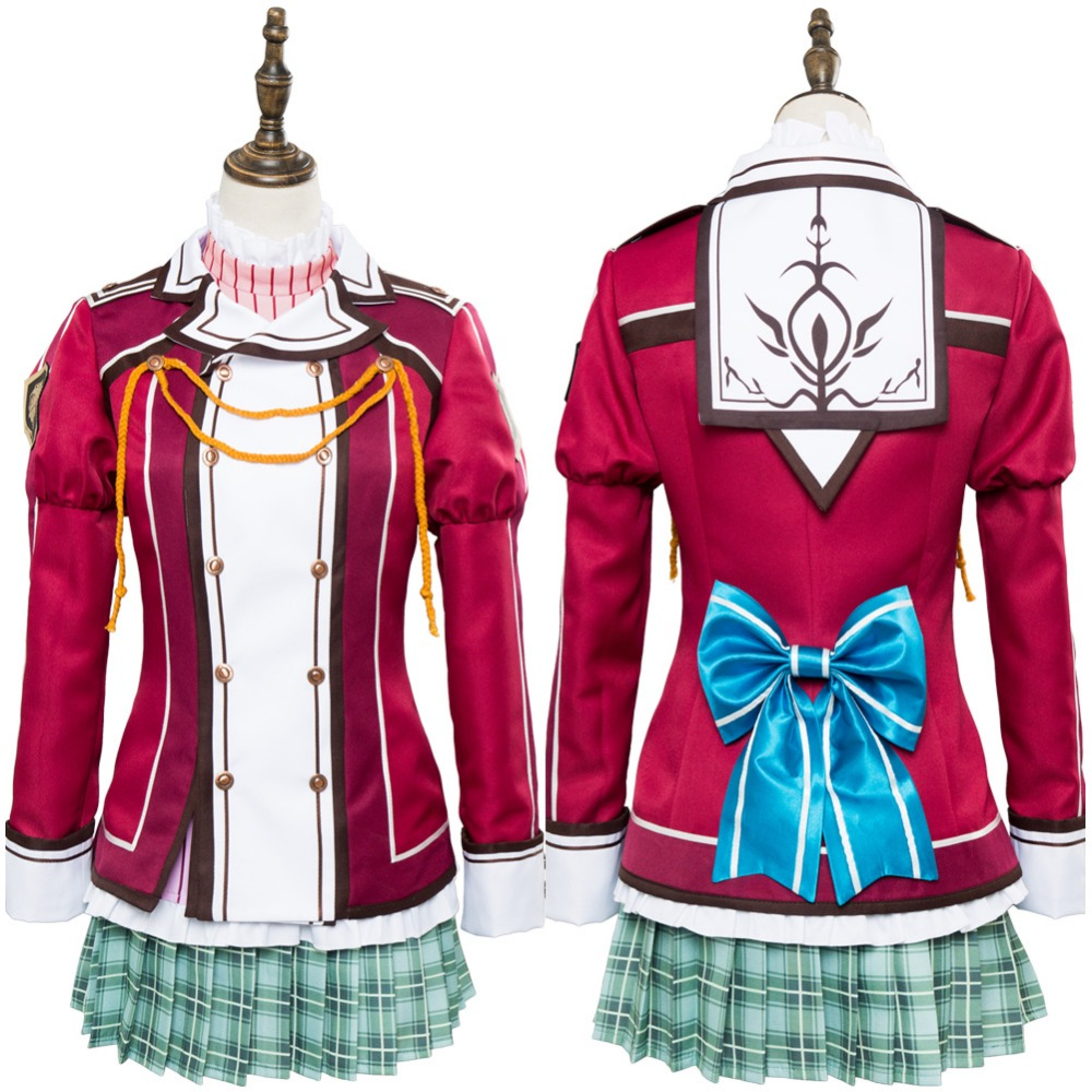 The Legend of Heroes: Trails of Cold Steel Alisa Reinford Cosplay Costume Adult Women Alisa Reinford Uniform Dress Costumes