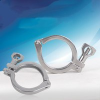 8 Stainless Steel SUS304 Sanitary Clamp Single Pin Tri Clamps Clover for Ferrule OD 232mm