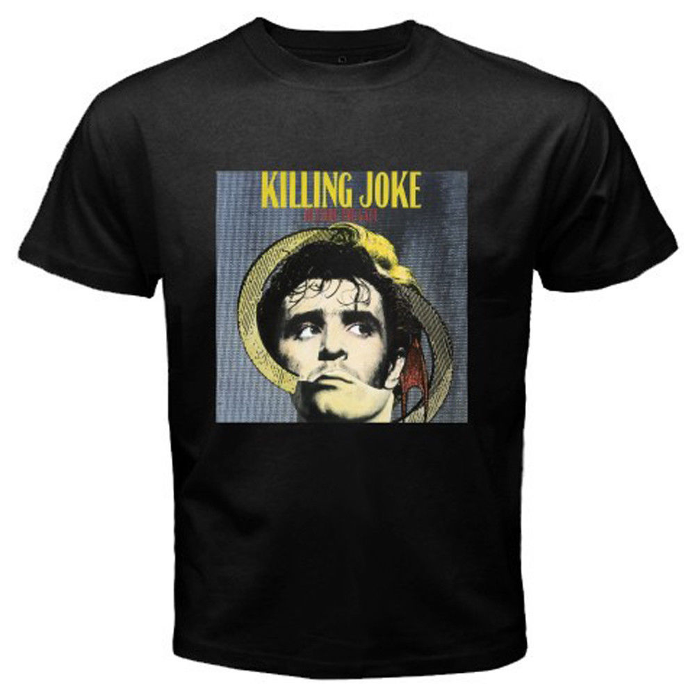 New Killing Joke Outside the Gate Rock Band Mens Black T-Shirt Size S to 3XL Hot New 2018 Summer Fashion T Shirts