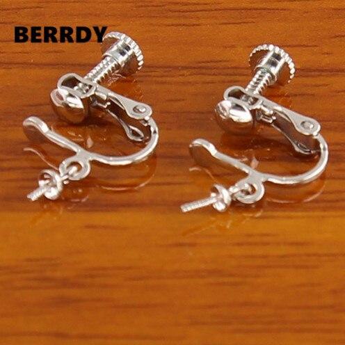 Fashion Pearl Earrings Mountings Findings Settings Jewelry Parts Ings Ear Clip