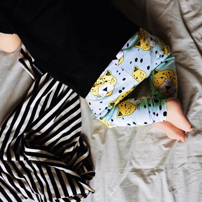 Cartoon Baby Pants Cotton Cute Green Pattern Newborn Trousers Boys Girls Casual New Years Costume