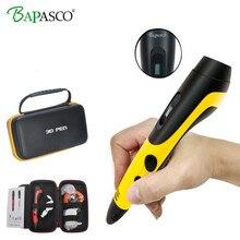 2018 Newest 3D Pen Original Bapasco BP-04 Gift Box Portable 3D Magic Pen USB Chager Kids' Best Education Tools 3D Doodler Pen 3D