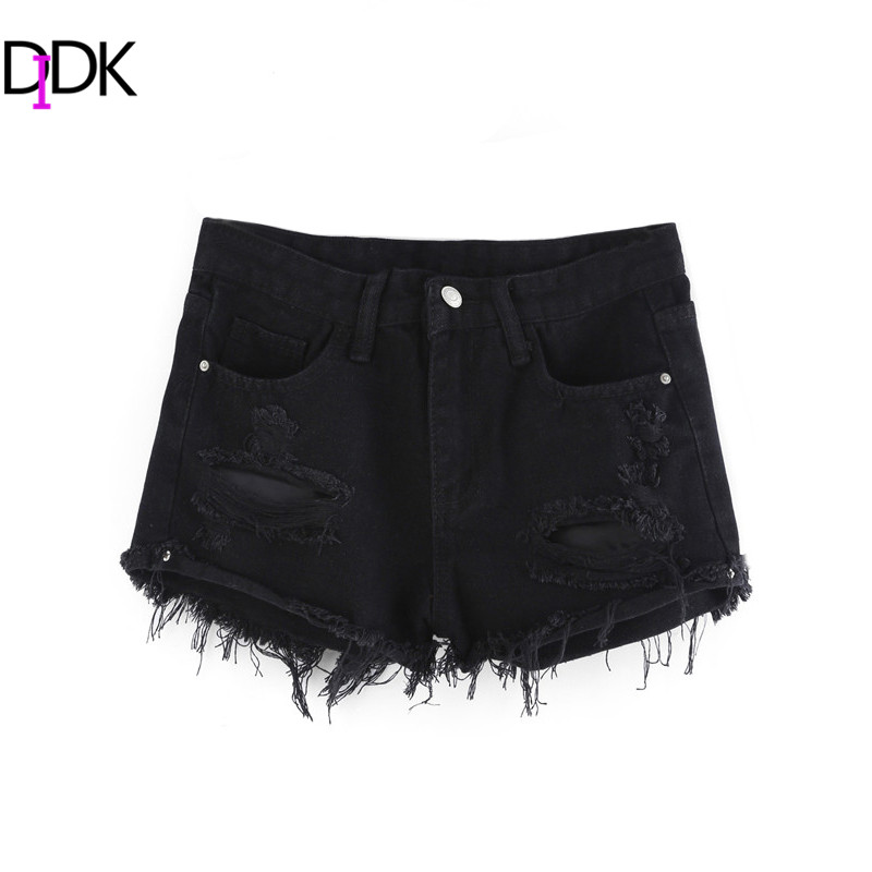 Black ripped denim shorts online shopping-the world largest black ...