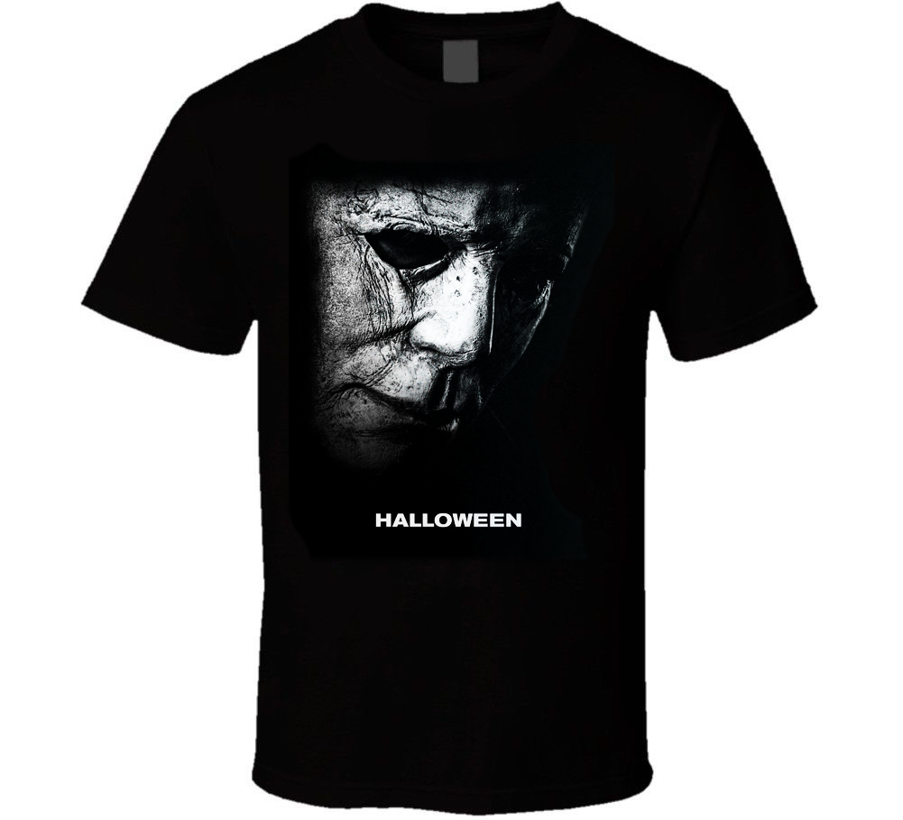 HALLOWEEN MOVIE T-SHIRT M-3XL FAST FREE SHIPPING HORROR MICHAEL MYERS CARPENTER Men T Shirt 100% Cotton Print Shirts