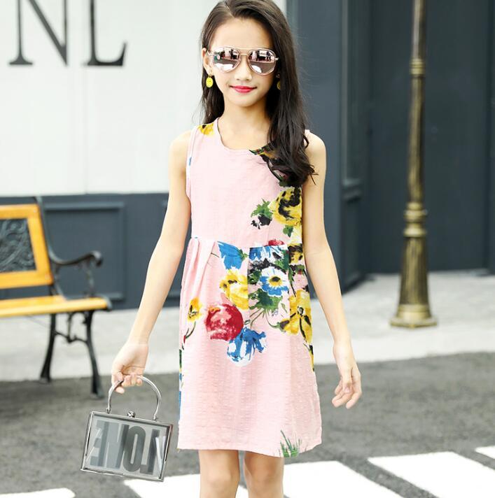 f83f6278c40b ... 8 10 12 14 Years Plus Size. . Summer Girls Dress Cotton Bohemian  Floral Tunic Beach Dress children kids casual Sundress For 4 6. sku:  32971197647