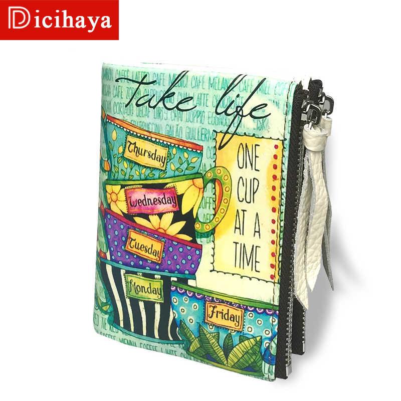DICIHAYA/Новое поступление, женские кошельки и кошельки, двойной кошелек на молнии, женский кожаный кошелек, Женский кошелек для монет, держатель для карт, 702-3