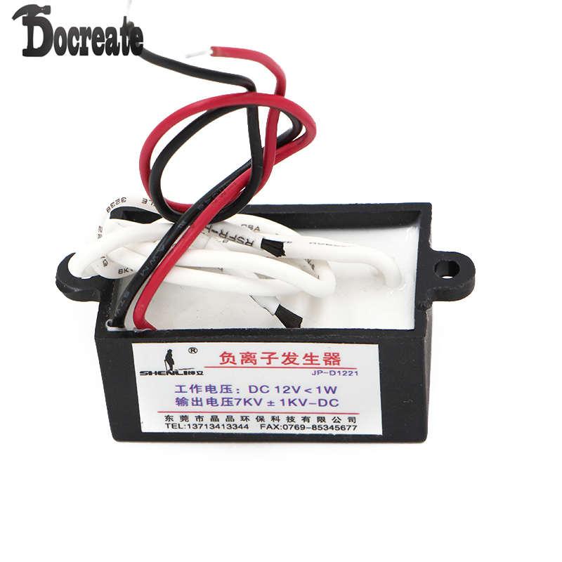 DC12V Output DIY Air Ionizer Airborne Negative Ion Anion Generator comwell cl r03 diy negative ions anion generator ionizer purifier refrigerator air conditioning