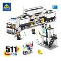 Kazi 6727 bloques de construcción de vehículos de mando de la policía swat camión 511 unids ladrillos juguetes educativos para los niños regalo de cumpleaños