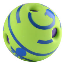 Hot Intresting No Harm Wobble Wag Giggle Ball Dog Training Pet Toys With Funny Sound Make Dogs Happy