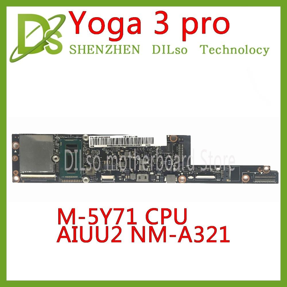 KEFU NM-A321 carte mère pour Lenovo Yoga 3 pro carte mère YOGA 3 pro AIUU2 NM-A321 avec M-5Y71 CPU 4 GB RAM carte mère d'origine