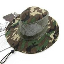 Bucket Hat Men Fishing Cap Camo Hunting Cap Camouflage Mountaineering Camping Hiking Sport Hats Mosquito Hat Mens Fishing Caps