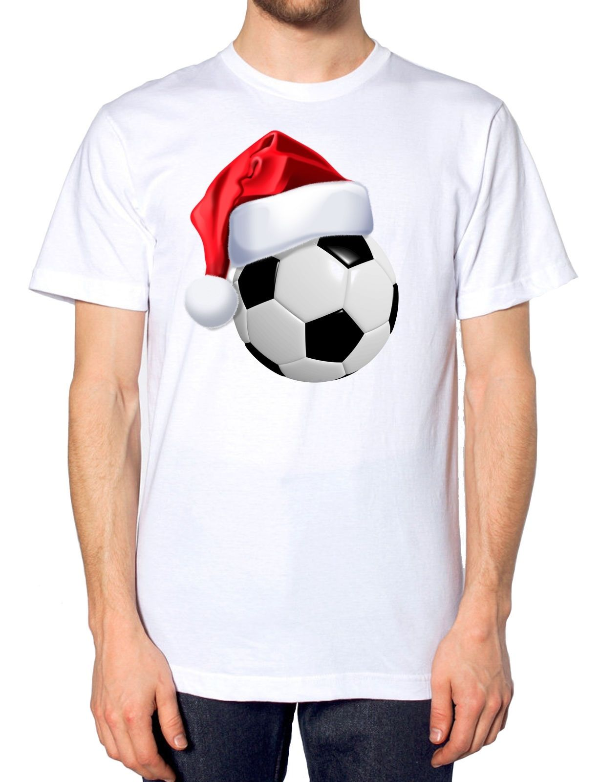 Christmas Santa Hat T Shirt Sportsman Festive Party Novelty Joke Gift