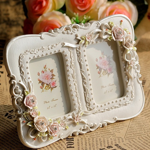 Vintage Resin White Picture Photo Frames For Baby Parents Home ...