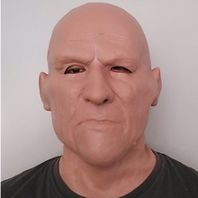Hot Selling  Realistic Full Head Carnival Costume Theater Scene Prop Adult Cap Halloween latex Old Man Mask