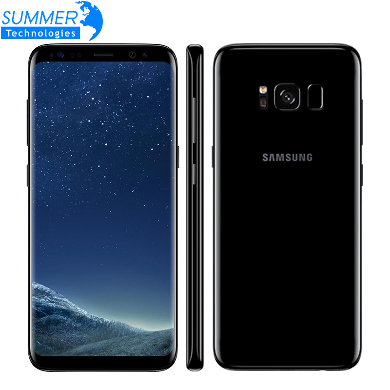 Originais Samsung Galaxy S8 4G LTE Octa Telemóvel núcleo 4GB RAM GB ROM 5.8 Polegada 64 12MP impressão digital de Smartphones