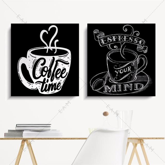 Kitchen Coffee Time Artwork Canvas Art Print Painting Poster Wall Pictures For Living Room Home Decorative