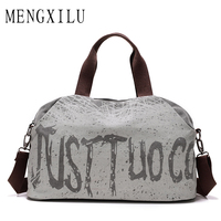 MENGXILU Brand Graffiti Women Canvas Bag Famous Designer Shoulder Bag Large Capacity Ladies Hand Bags Fashion