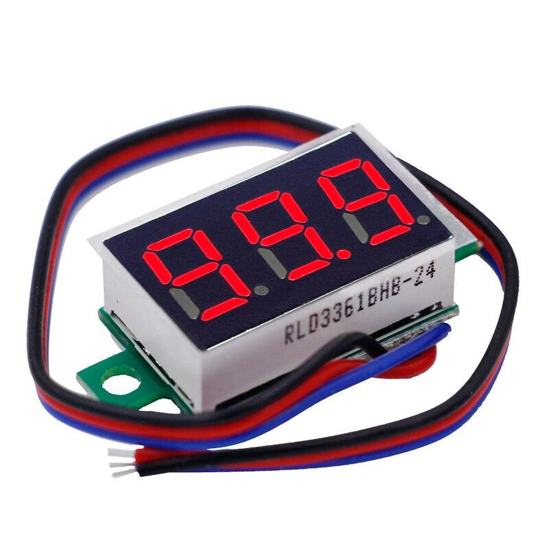 500pcs/lot by dhl or fedex DC 0-200v Red LED display Mini Digital Voltmeter tester Voltage Panel Meter 40%off